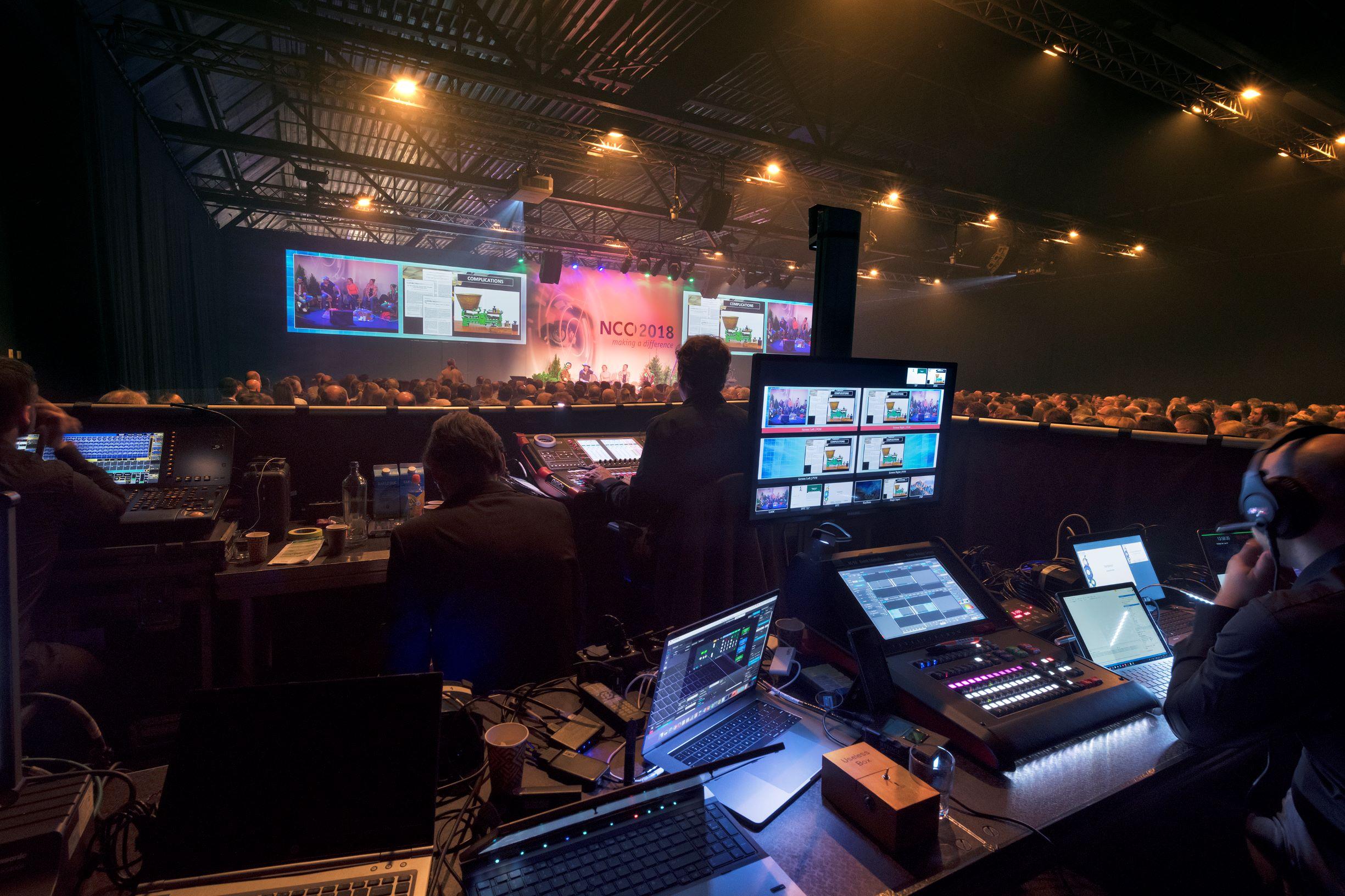 Audiovisuele middelen voor congres NCC 2018 Koningshof Veldhoven