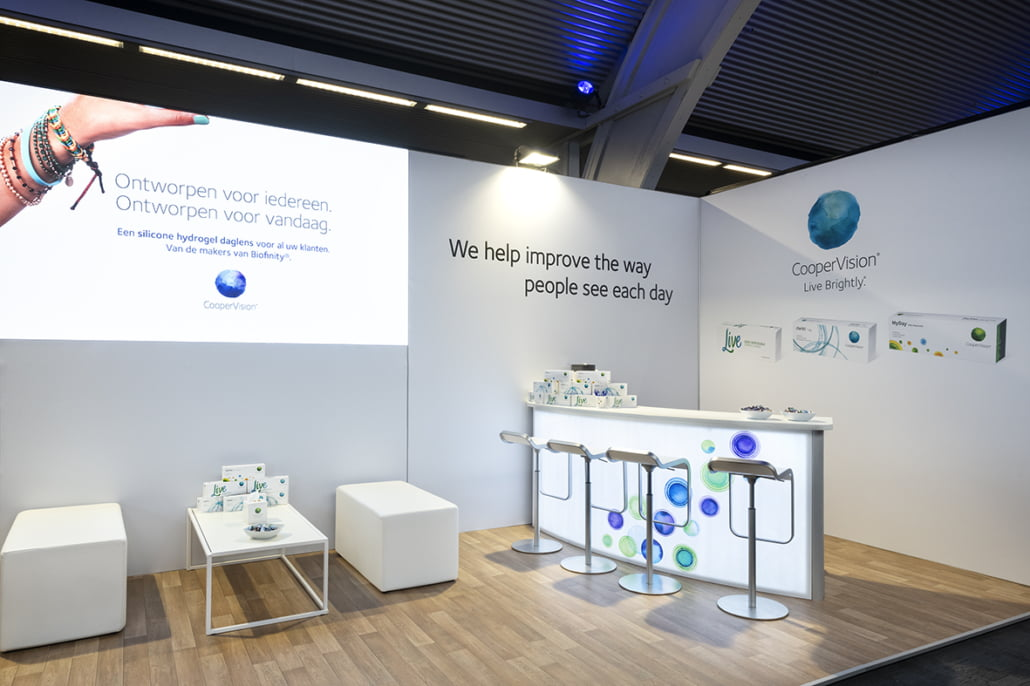 duurzame stand met LED wall